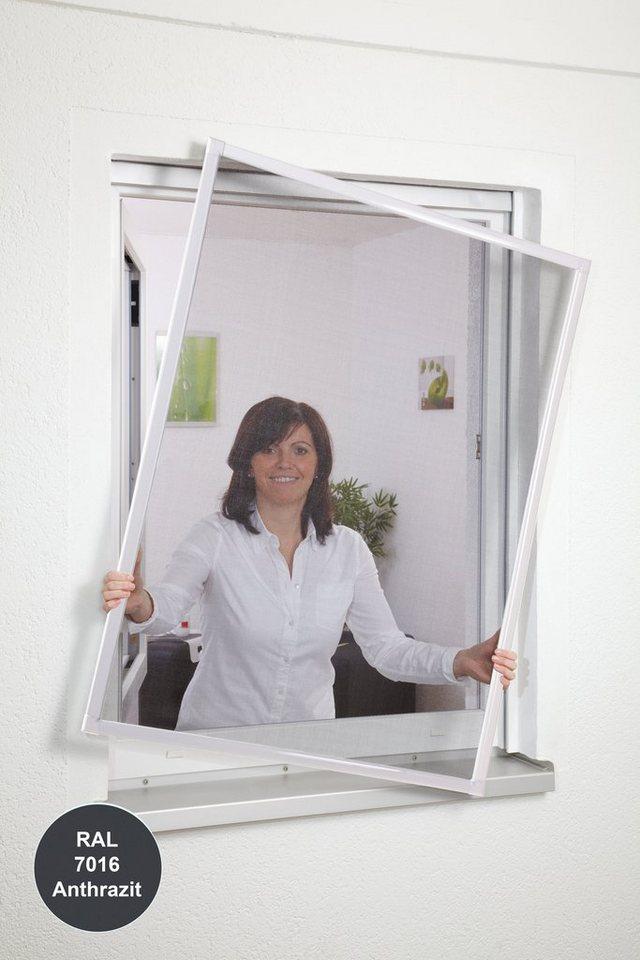 Insektenschutz-Fensterbausatz »Basic« BxH: 130 x 150 cm, anthrazit in anthrazit