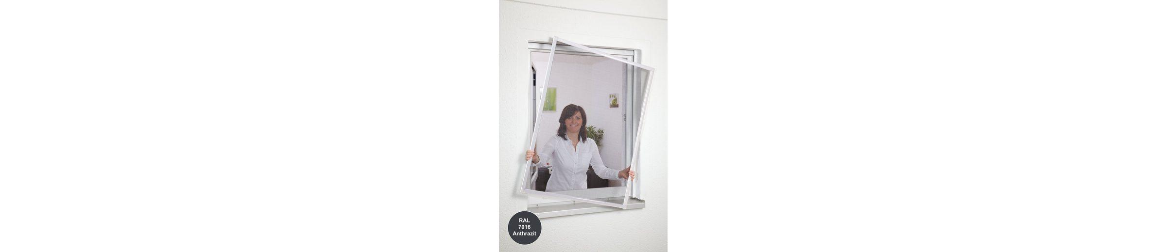 Insektenschutz-Fensterbausatz »Basic« BxH: 130 x 150 cm, anthrazit