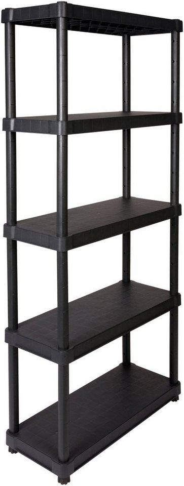 """Steckregal »16"""" mit 5 geschlossenen Böden«, in schwarz in schwarz"""