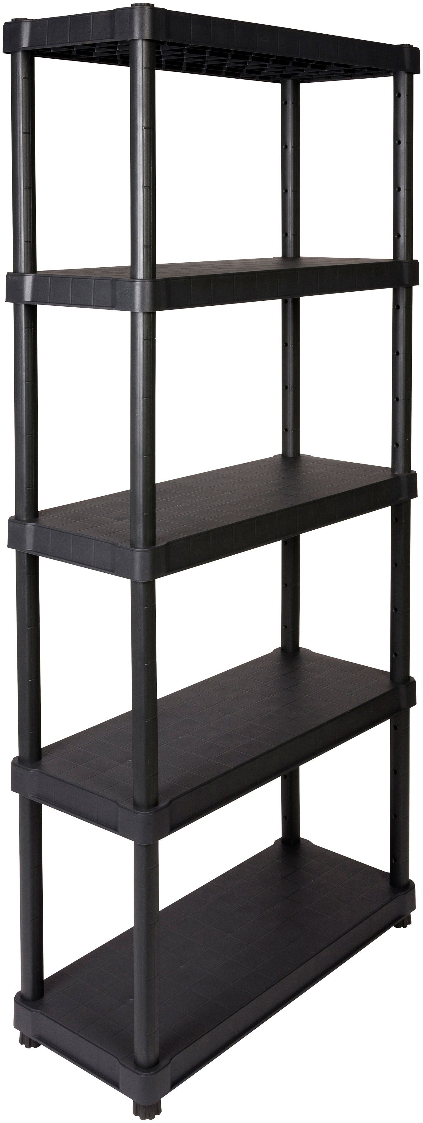 """Steckregal »16"""" mit 5 geschlossenen Böden«, in schwarz"""