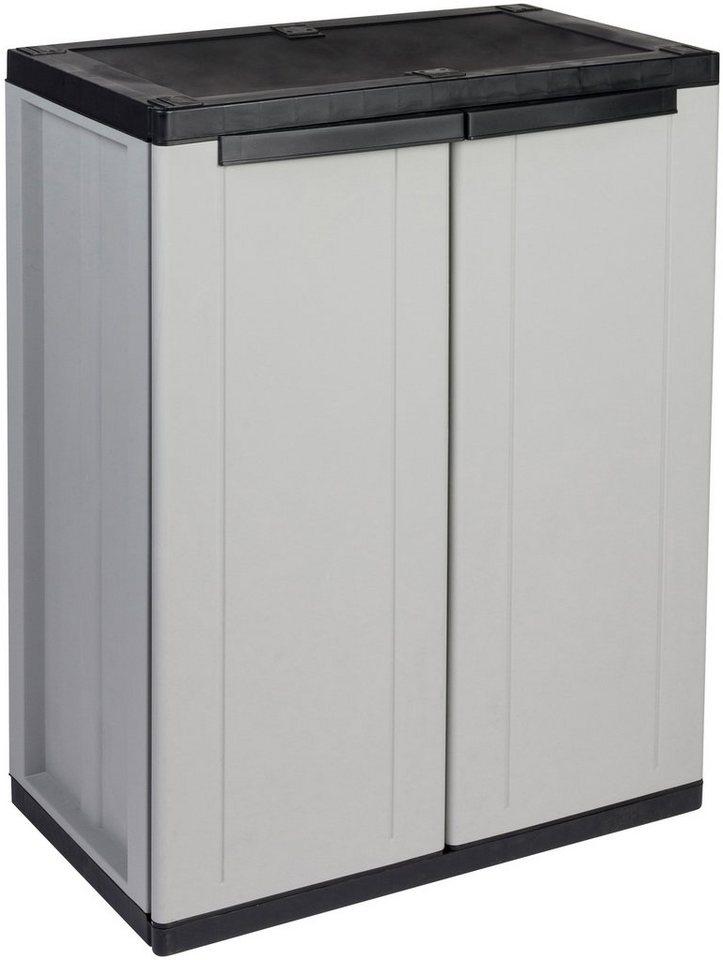 Kunststoff-Universalschrank »1 Boden« in grau/schwarz