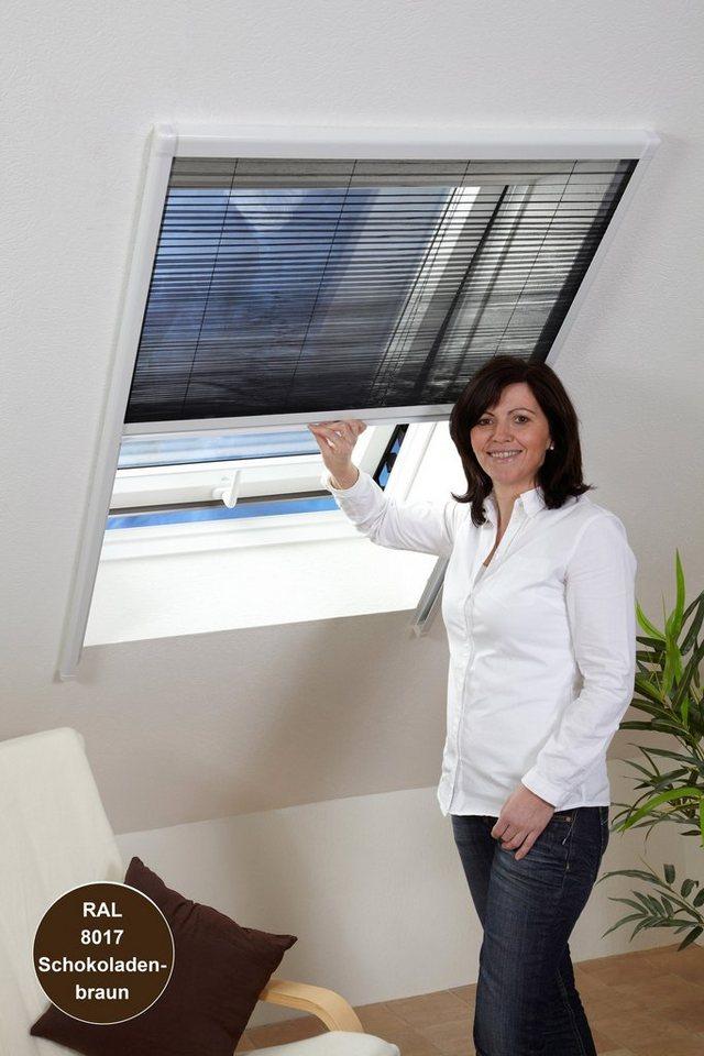 Insektenschutz-Rollo »Dachfenster-Plissee« braun, in 2 Größen in anthrazit