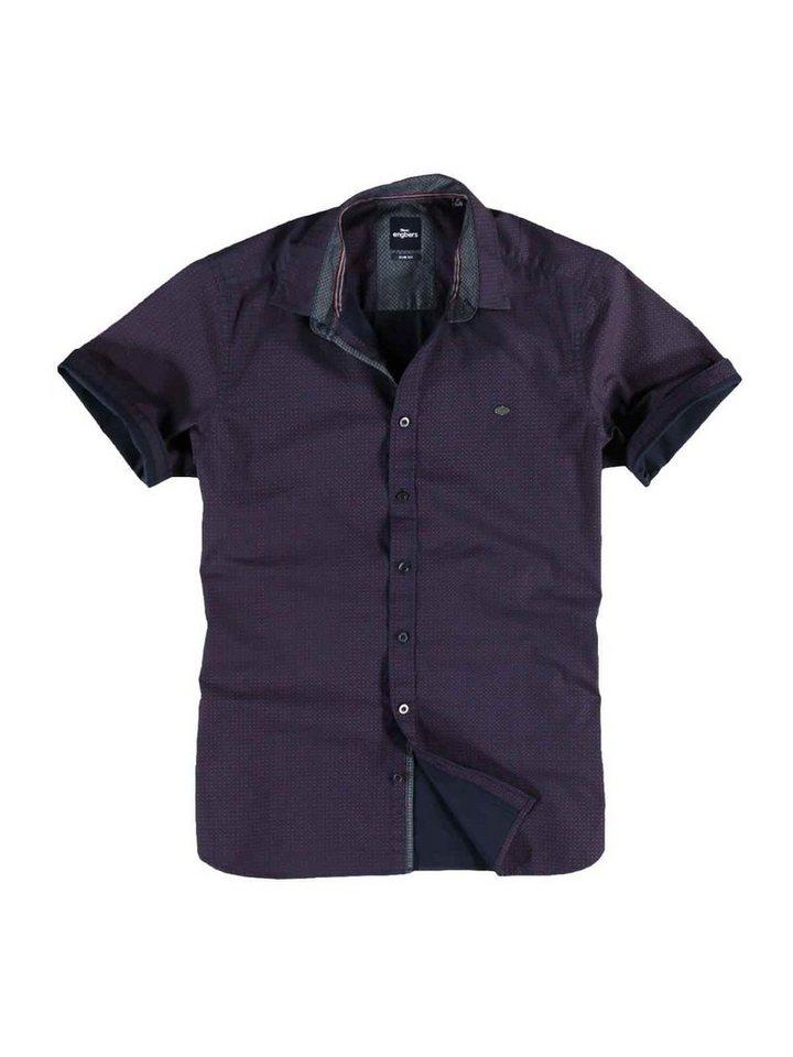 engbers Hemd kurzarm in Rubinrot