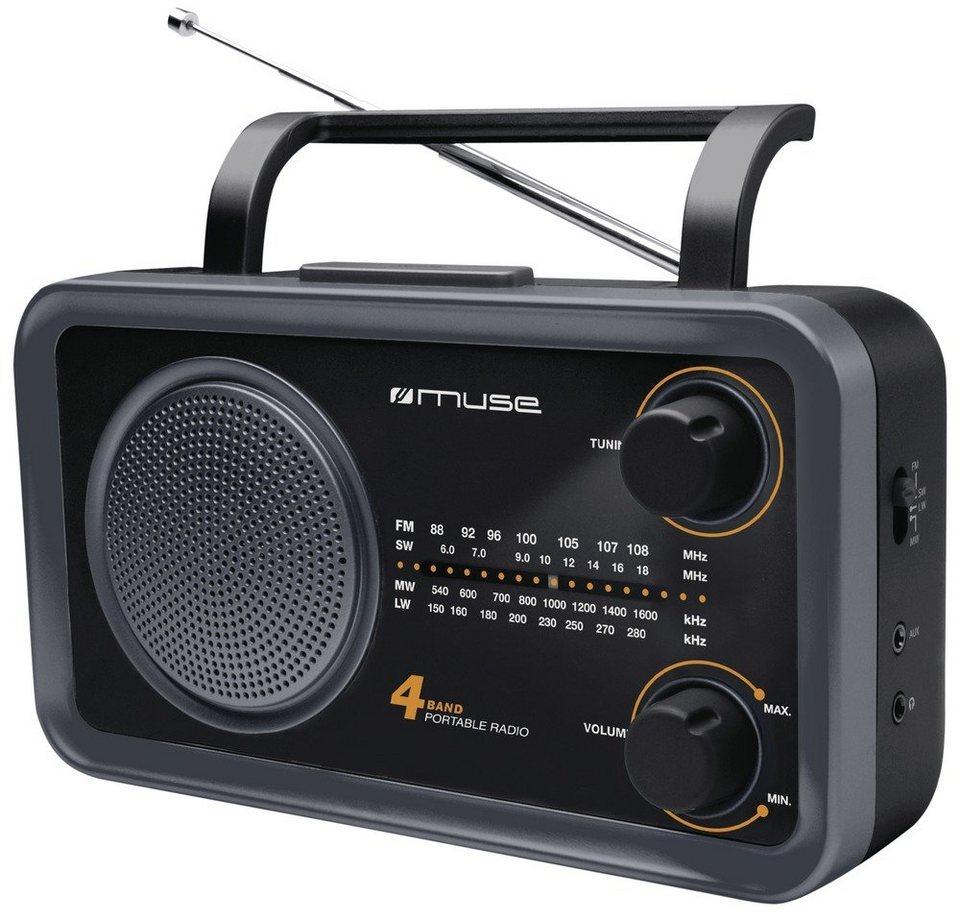 Muse Kompaktradio »M-05 DS« in schwarz
