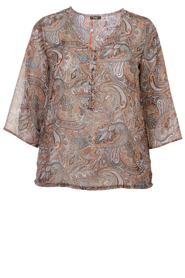 FRAPP Chiffon-Bluse »Natural Paisley« in LIGHT COGNAC MULTICO