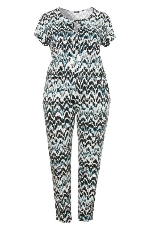 VIA APPIA DUE Jersey Jumpsuit / Overall »Green Shades« in OPAL MUTICOLOR