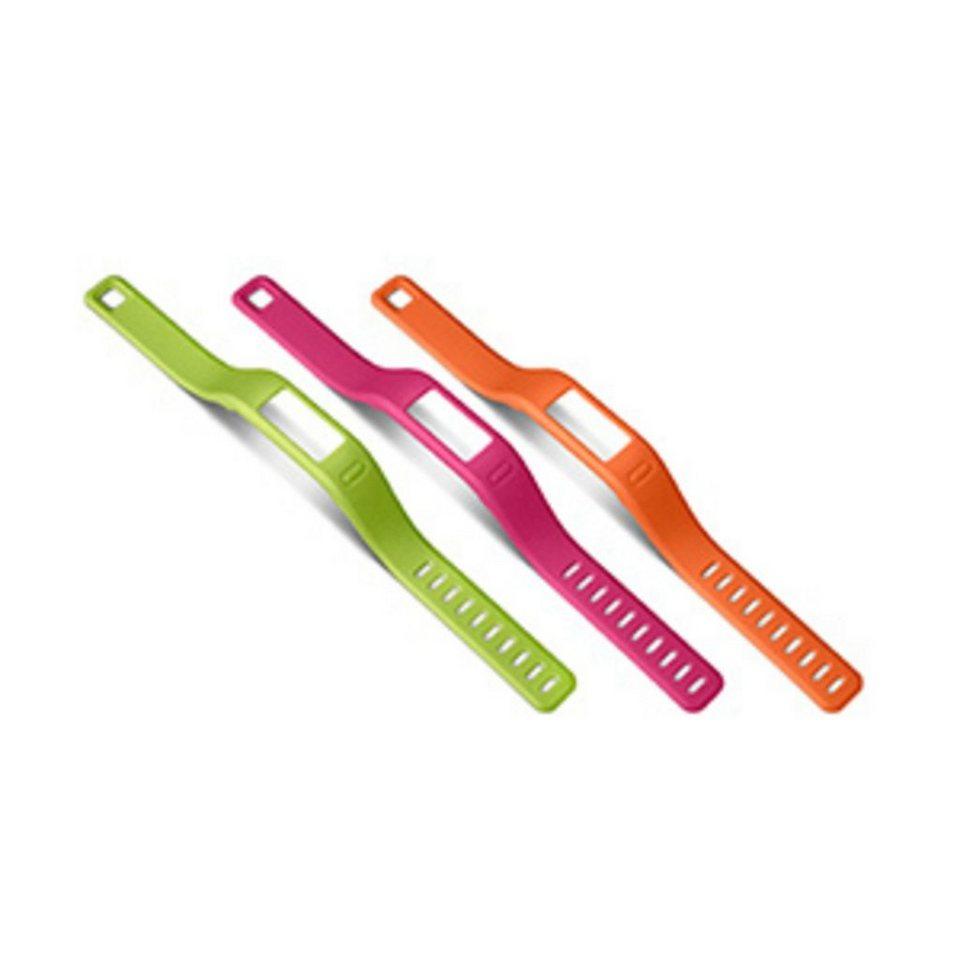 Garmin Ersatzarmbänder »vivofit , lila, grün (groß)« in Orange-Pink