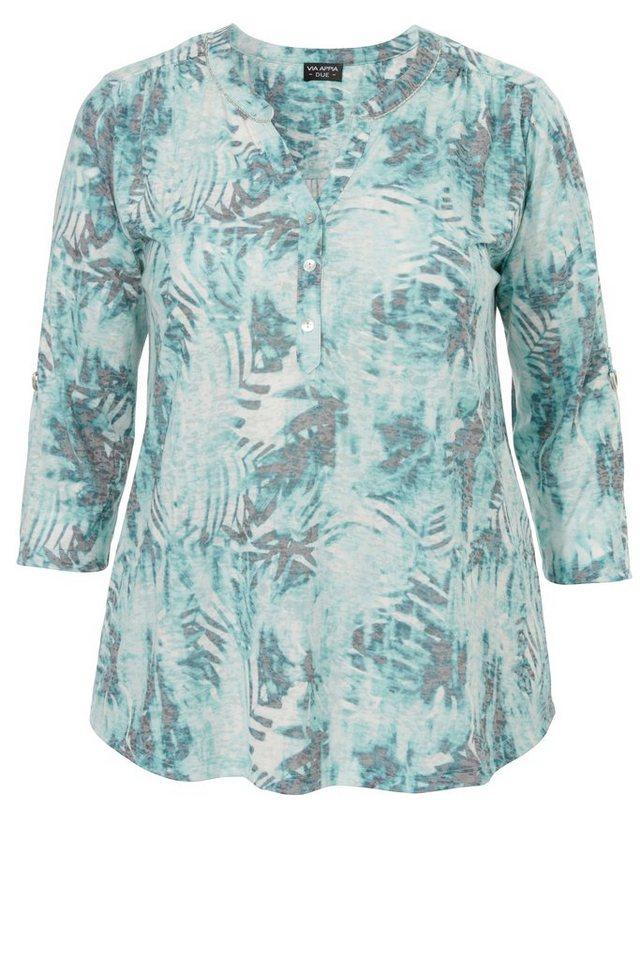 VIA APPIA DUE 3/4-Arm Shirt »Tropical Dream« in OPAL MUTICOLOR