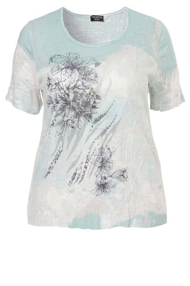 VIA APPIA DUE Gecrushtes Sommer-T-Shirt in OPAL MUTICOLOR