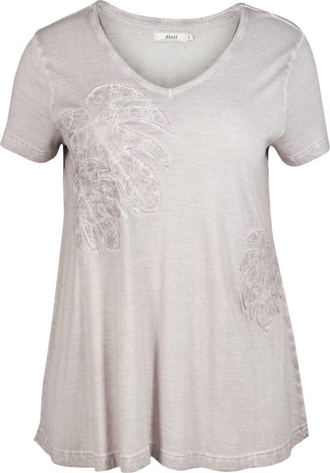 Zizzi T-Shirt in Ash