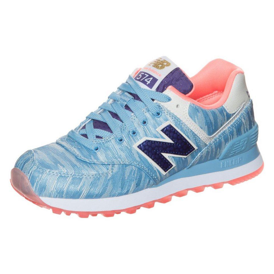 NEW BALANCE WL574-SIC-B Sneaker Damen in blau / weiß / koral