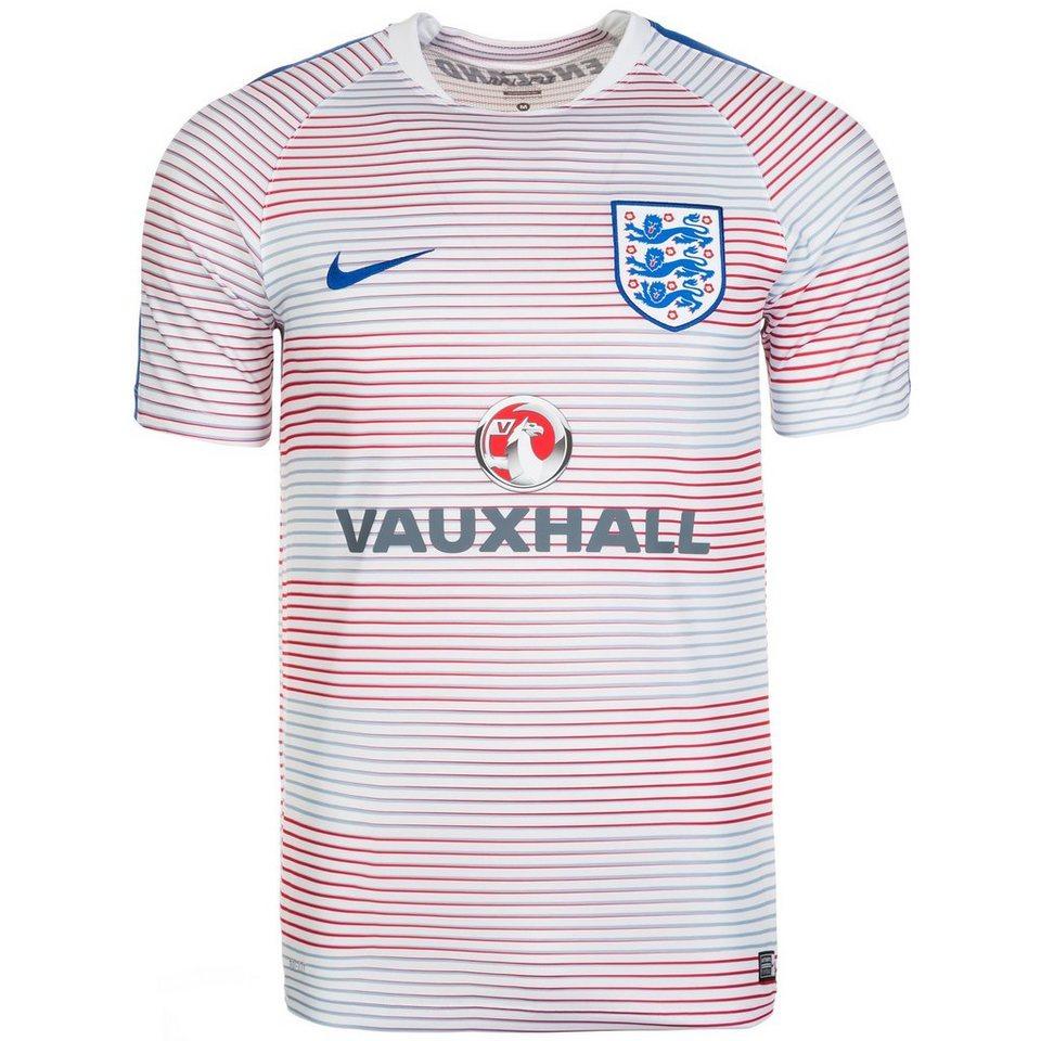 NIKE England Flash II Trainingsshirt EM 2016 Herren in weiß / blau / rot