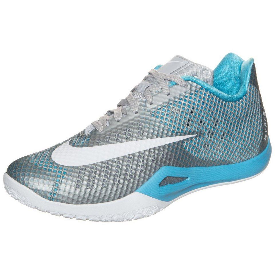NIKE HyperLive Basketballschuh Herren in grau / hellblau