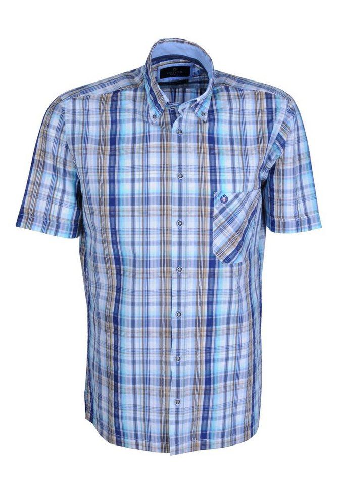 Hatico Modisches Karo Hemd in blau