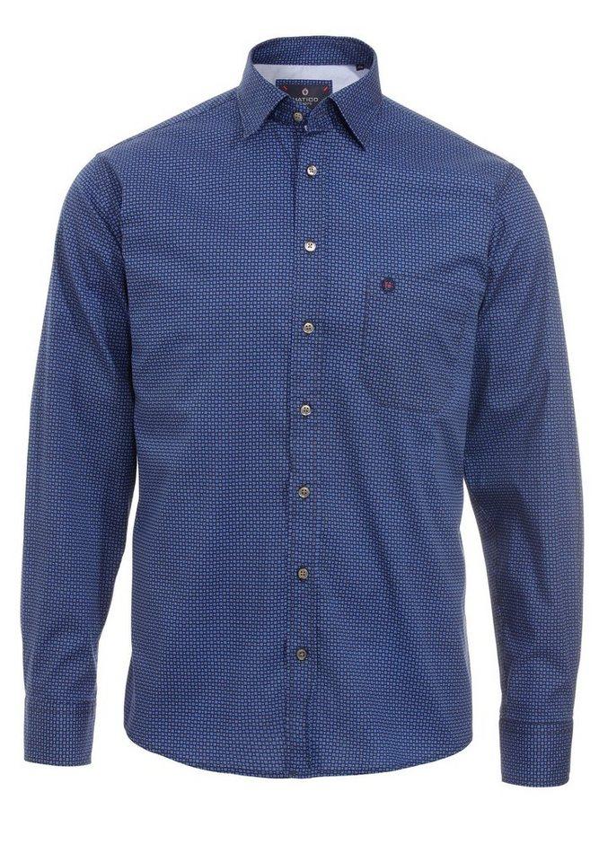 Hatico Casual Langarmhemd in blau