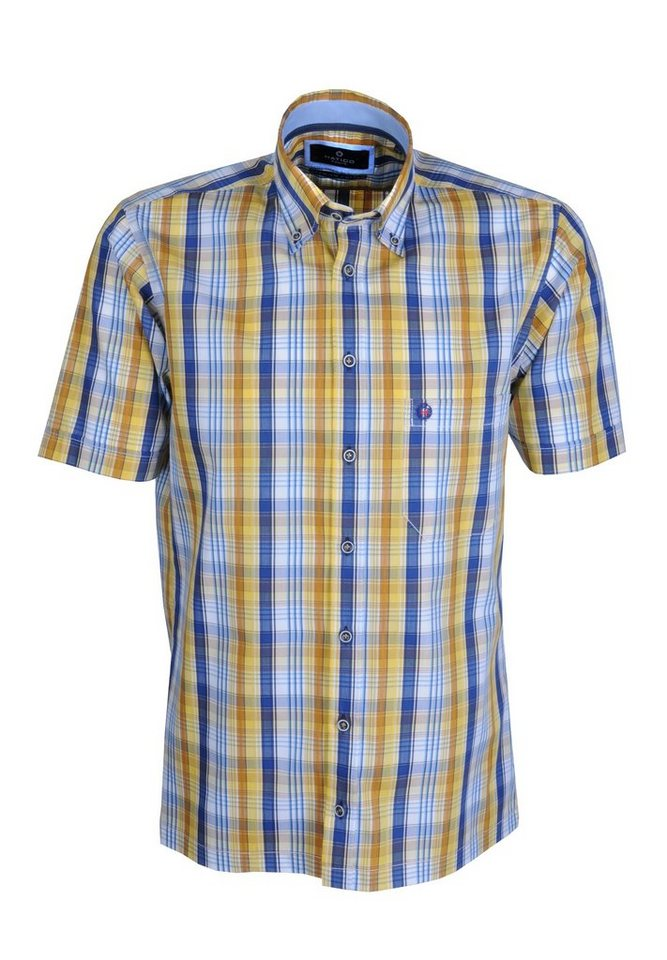 Hatico Modisches Karo Hemd in gelb
