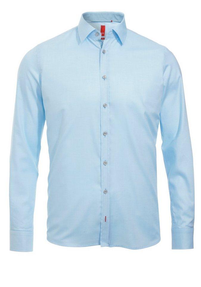 Pure Modisches Hemd ohne Brusttasche in uni aqua