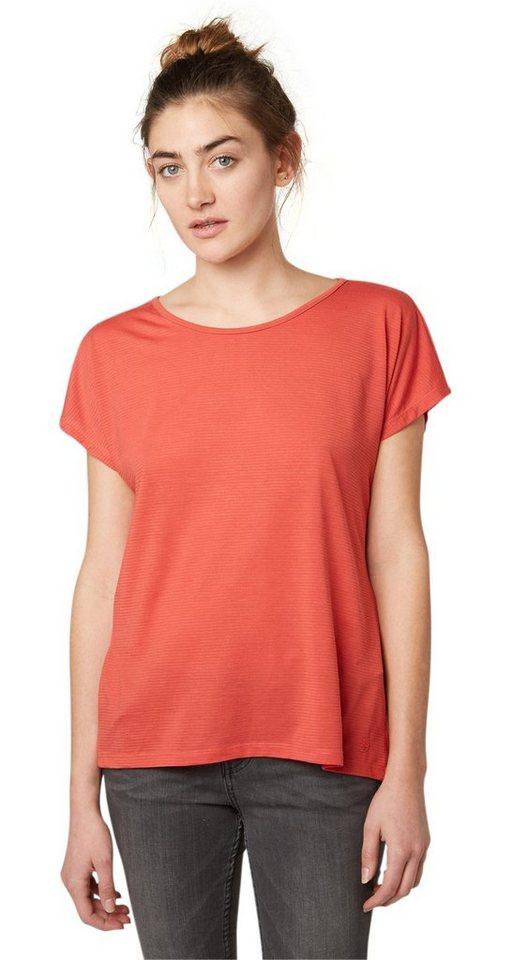 TOM TAILOR DENIM T-Shirt »lässiges Shirt mit Rücken-Detail« in baked apple red