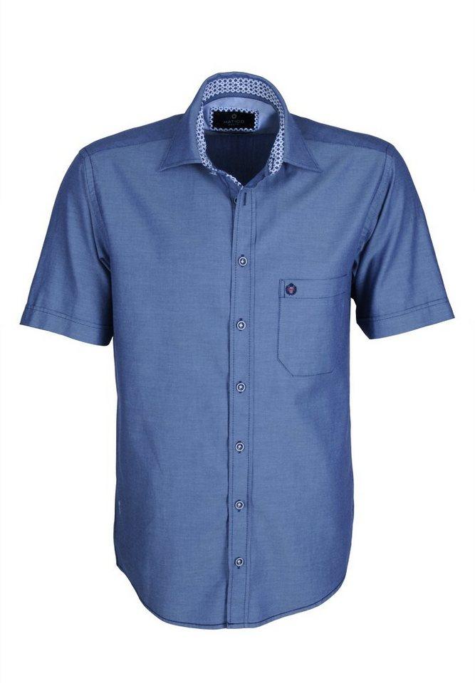 Hatico Sportives Hemd in blau