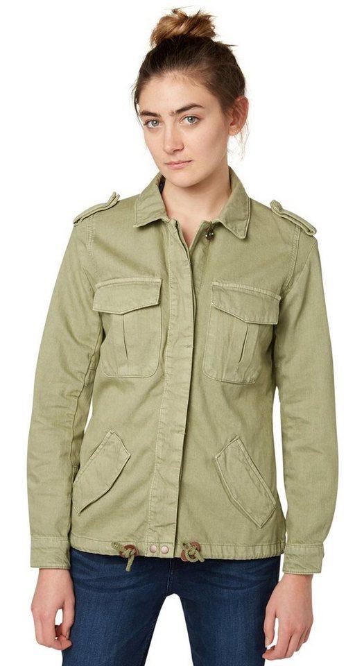 TOM TAILOR DENIM Jacke »utility shirt jacket« in dark tea green
