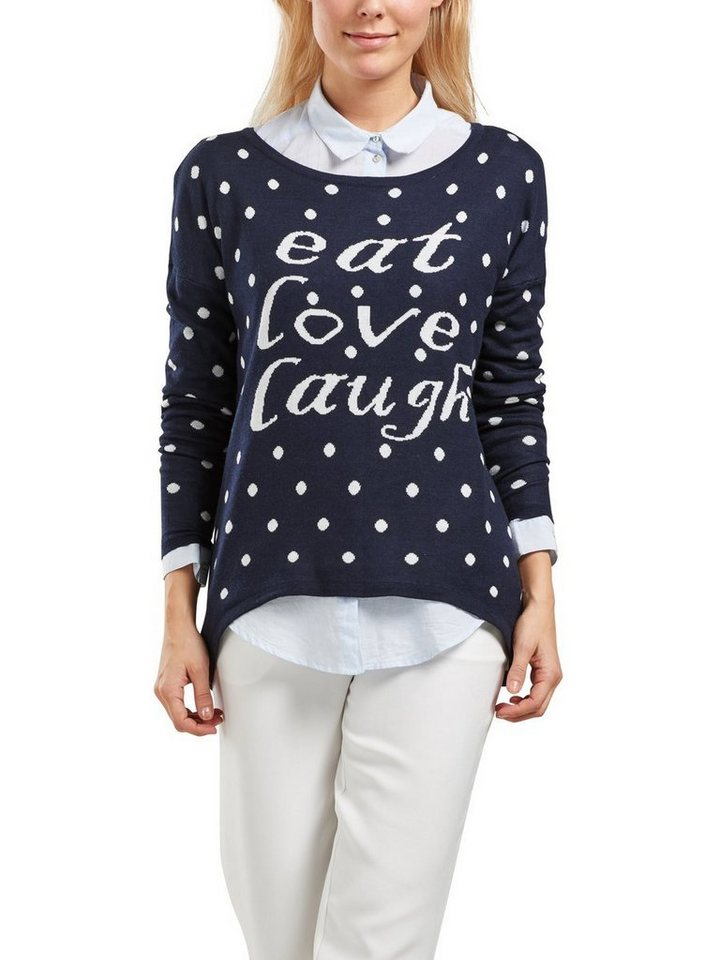 Only Statement- Strickpullover in Night Sky
