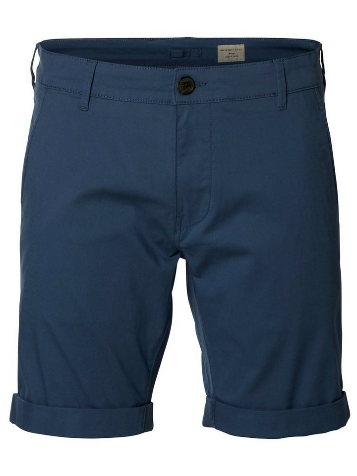 Selected Chino- Shorts in Light Blue