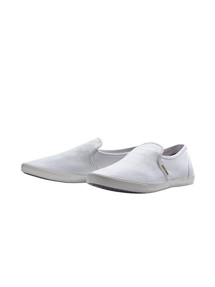Jack & Jones Leinen Sneaker in Bright White
