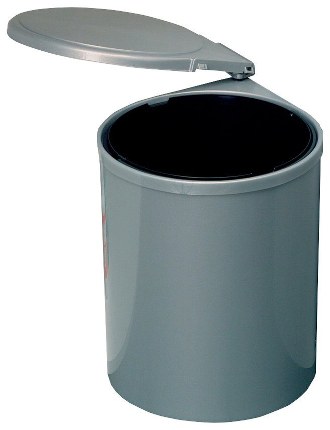 Einbau-Abfalleimer mit Türautomatik, rund