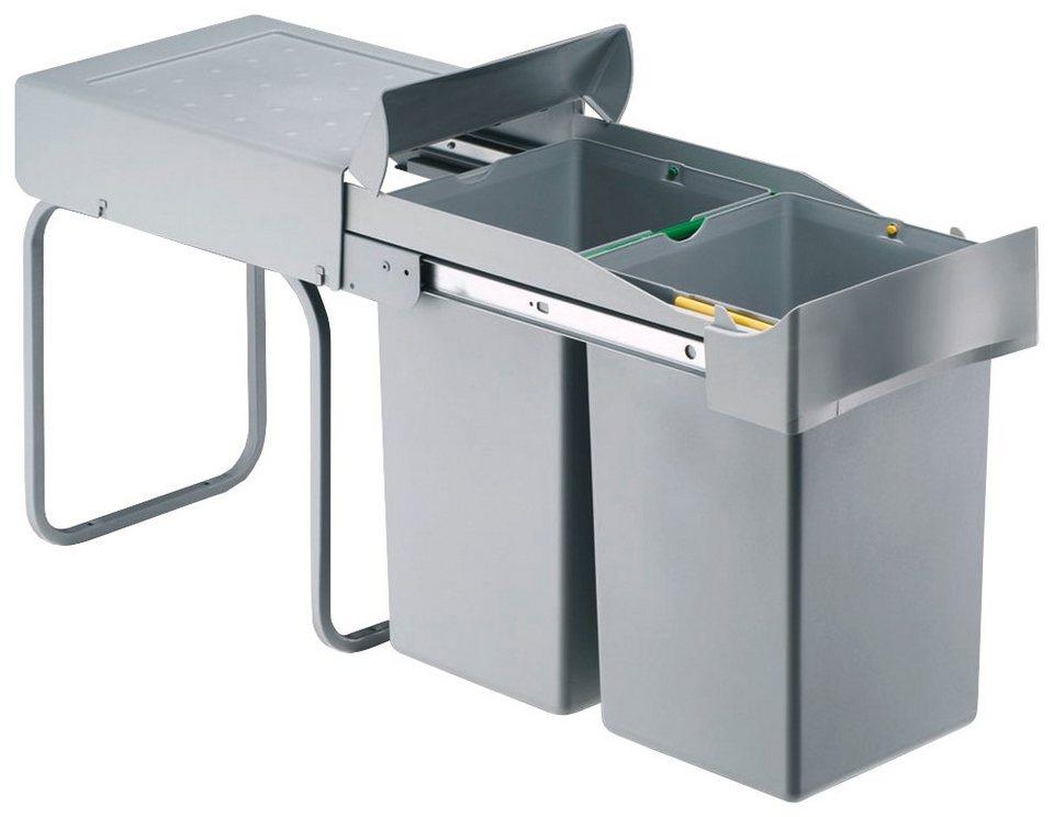 Einbau-Abfalleimer »2x14 Liter« in grau
