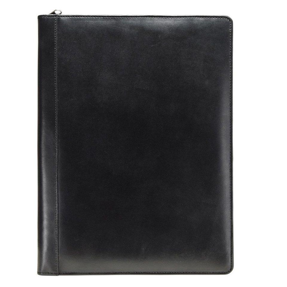 Esquire Eco Schreibmappe Lederb 24 cm in schwarz