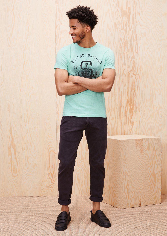s.Oliver RED LABEL Besticktes Print-Shirt