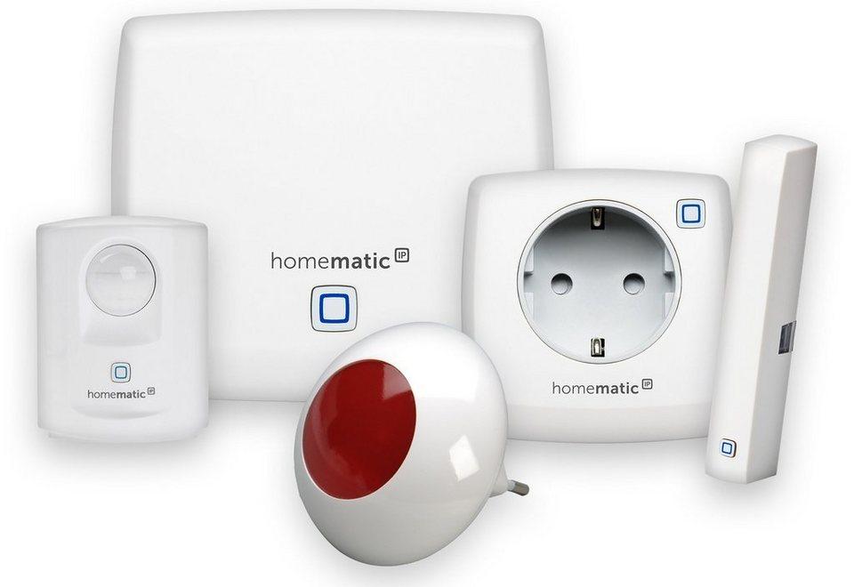 homematic ip smart home sicherheit komfort starter set sicherheit plus online kaufen otto. Black Bedroom Furniture Sets. Home Design Ideas