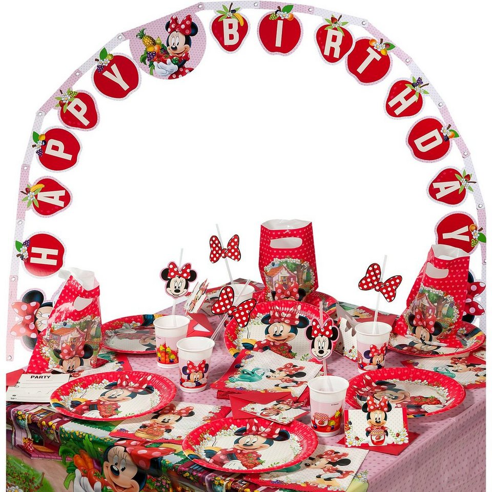 Procos Partyset Minnie Jam Packed with Love, 56-tlg.