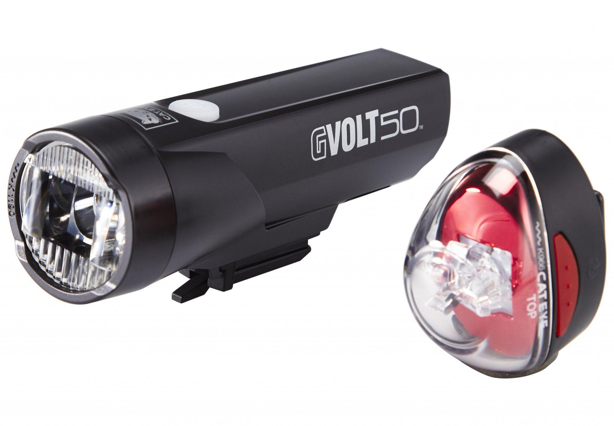 Cateye Fahrradbeleuchtung »GVOLT50/Rapid1G Beleuchtungsset EL550GRC/LD611G«