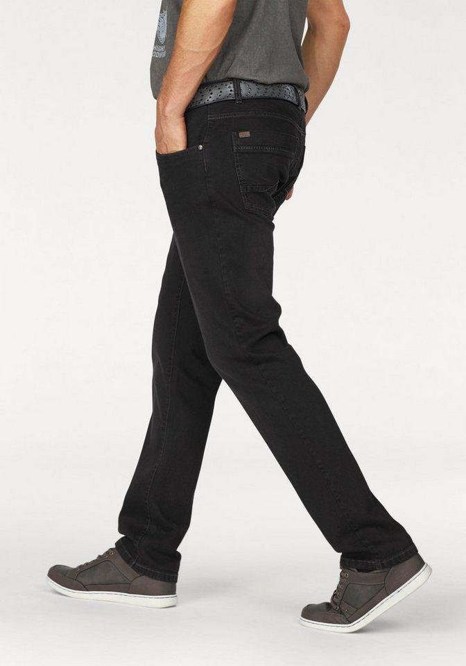 Arizona Stretch-Jeans »Scott« mit schmalerem Beinverlauf in black-used