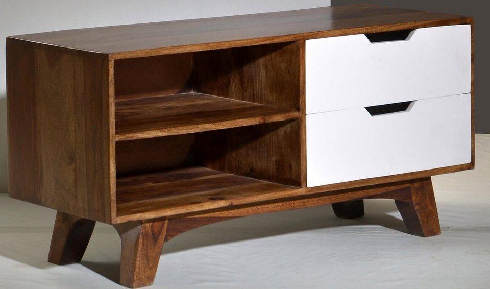 SIT Lowboard »Sixties«, in zwei Größen in Sheesham/weiß