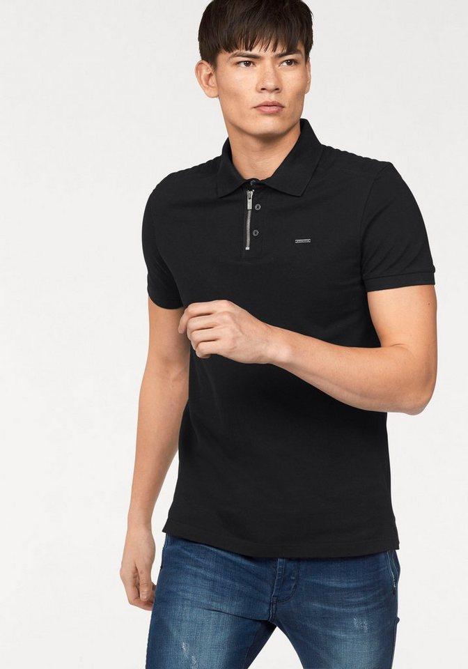 Bruno Banani Poloshirt Pique´ Qualität in schwarz