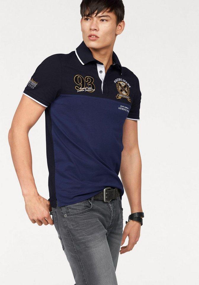 Bruno Banani Poloshirt »Piqué Qualität« in marine-blau