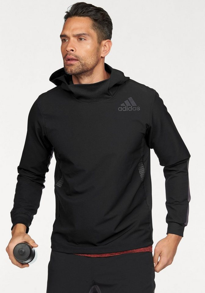 adidas Performance Funktionsshirt »WORKOUT OVER THE HEAD HOOD« in schwarz