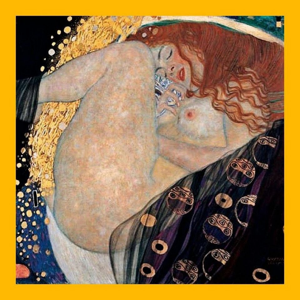 Home Affaire Gerahmtes Bild, »Klimt / Danae«, 76/76/2 cm in braun/gold