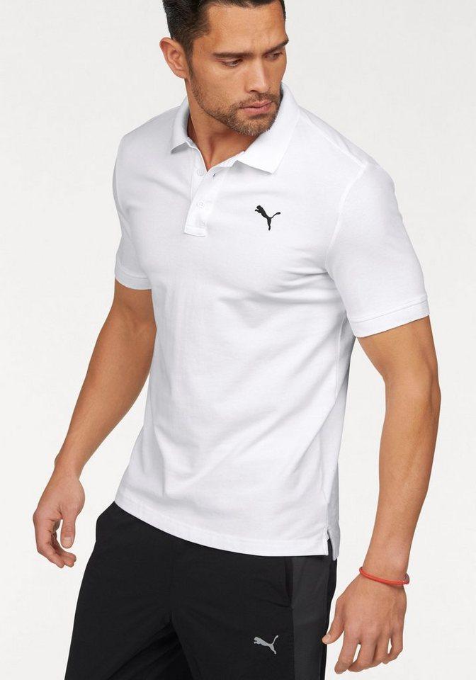 PUMA Poloshirt »ESS Pique Polo« in weiß