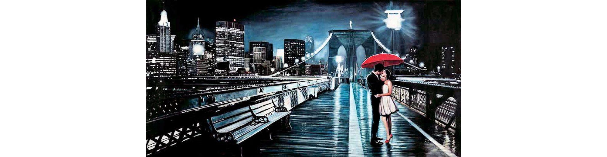 Home Affaire Deco Panel, »Pierre Benson / Kissing on Brooklyn Bridge«, 100/50/2 cm