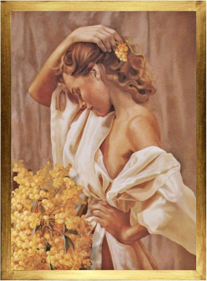 Home Affaire Gerahmtes Bild, »W.J.Lepper / Samantha«, 56/76/2 cm in beige/weiß