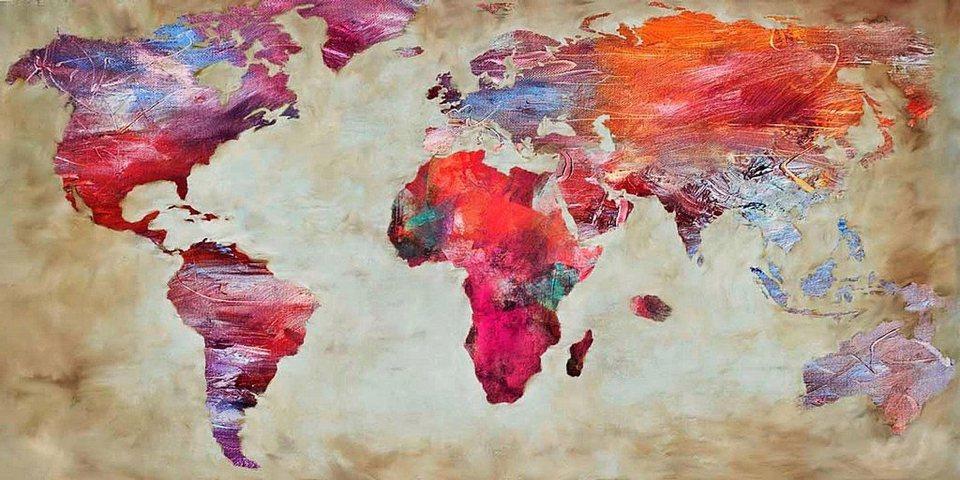 Home Affaire Bild, Kunstdruck, »Joannoo / World in colours«, 70/33/1,3 cm in bunt