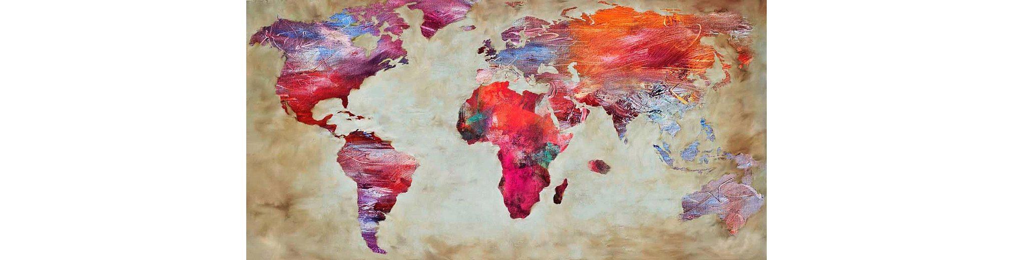 Home Affaire Bild, Kunstdruck, »Joannoo / World in colours«, 70/33/1,3 cm