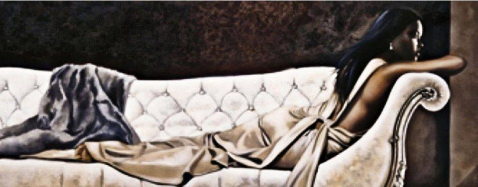 Home Affaire Bild, Kunstdruck, »Di Scenza / Midnight Riverie«, 120/47/1,3 cm in weiß/braun