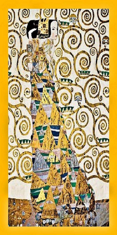 Home Affaire Gerahmtes Bild, »Klimt / Erwartung«, 56/106/2 cm in braun/gold