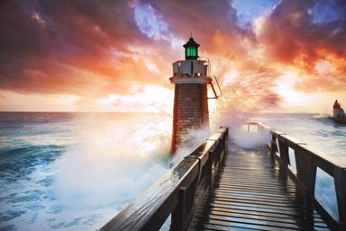 Home affaire Fototapete »Lighthouse«, 350/260 cm