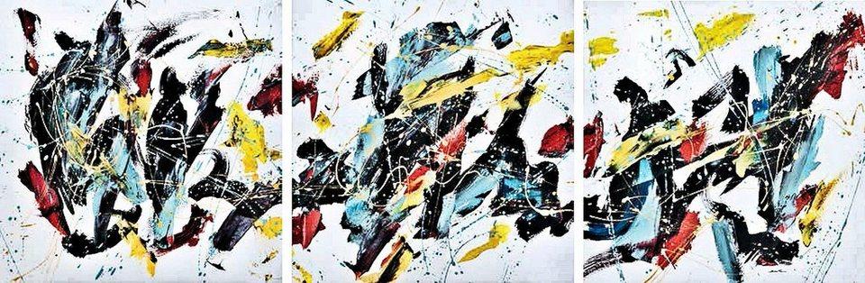 Home Affaire Bild, Kunstdruck, »Bob Ferri /Caprice «,Bilderset 3x 30/30/1,3 cm in bunt