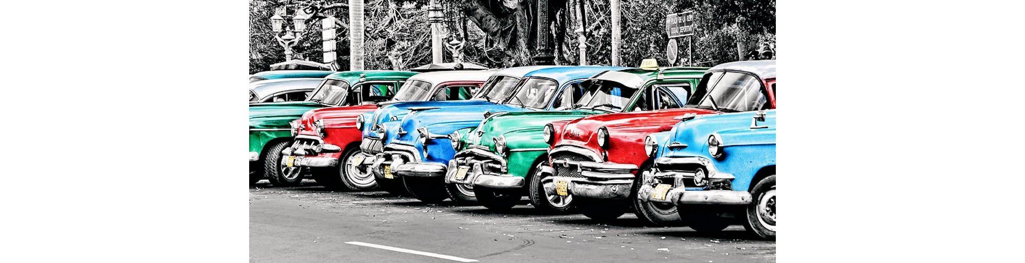 Home Affaire Bild, Kunstdruck, »John Lynn / Vintage cars in Cuba«, 70/33/1,3 cm